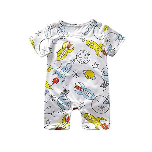Neugeborenes Baby- Säugling Baby Mädchen Jungen Cartoon Print Strampler Overall Sommerkleidung ODRD Mädchen Jungen Body Babyschlafsack
