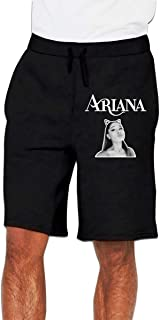 A_Riana Gr_ande Jogger Shorts Sweatpants Gym Shorts Workout Shorts with Pocket