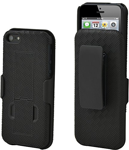 Aduro Shell Holster Combo Case for Apple iPhone SE / 5 / 5S with Kick-Stand & Belt Clip (At&t, Verizon, T-Mobile & Sprint)