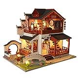 Puppenhaus DIY Modell Häuser Für Minipuppen China Altes Gebäude Mit Staubschutzhülle...