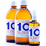 Kolloidales Silber 10PPM 1100ml 2 * 500ml & Spray 100ml Silberwasser ● tgl. Produktion und Direktlieferung ● Made in Germany -