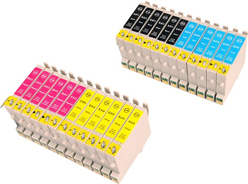 24 Multipack de alta capacidad Epson T0615 Cartuchos Compatibles 6 negro, 6 ciano, 6 magenta, 6 amarillo para Epson Stylus D68, Stylus D88, Stylus D88+, Stylus DX3800, Stylus DX3850, Stylus DX4200, Stylus DX4800, Stylus DX4850. Cartucho de tinta . T0611 , T0612 , T0613 , T0614 , TO611 , TO612 , TO613 , TO614 © 123 Cartucho