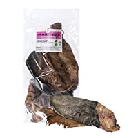 20 x Extra Large Cows Ears With Meat & Hair, Each ear is approximately the size of a Large Human Hand. Gluten & Grain Free. A healthy alternative to pigs' ears that's low in fat. The attached Hair Aids as a natural de-wormer whilst being low in odour...