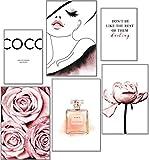 artpin® Moderno juego de pósteres COCO - Cuadros decorativos para salón, dormitorio, pared, sin marco
