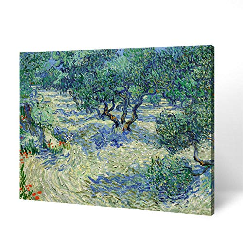 Abcear Vincent Van Gogh Landschaft Ölgemälde Olivenbaum Garten Schlafzimmer Restaurant Rahmenlose Dekorative Malerei Dreidimensionalen Reliefdruck-30Cm * 40Cm