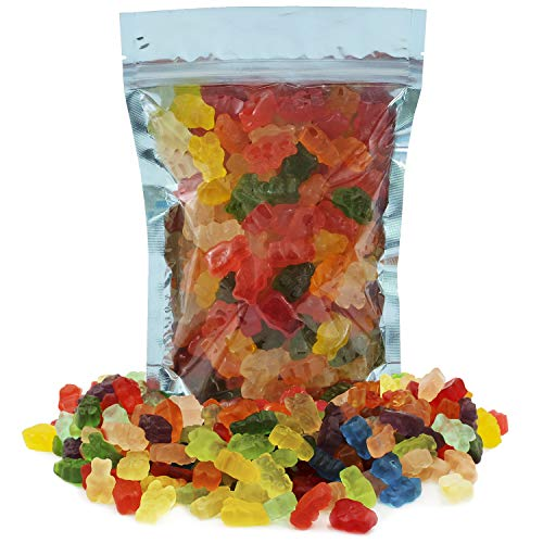 Sugar-Free Gummi Bears Candy, Assorted Fruit Flavors Gummies, Allergy Friendly, Non-GMO, No Artificial Sweeteners Gummy