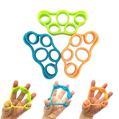 TILY 3 Tamaños (3KG / 8.8Ib 4KG / 6.6Ib 5KG / 11Ib) Dedo del Silicón Dedo de La Reunión del Estiramiento Resistencia de Mano Banda Dedo Dispositivo de Entrenamiento de Rehabilitación