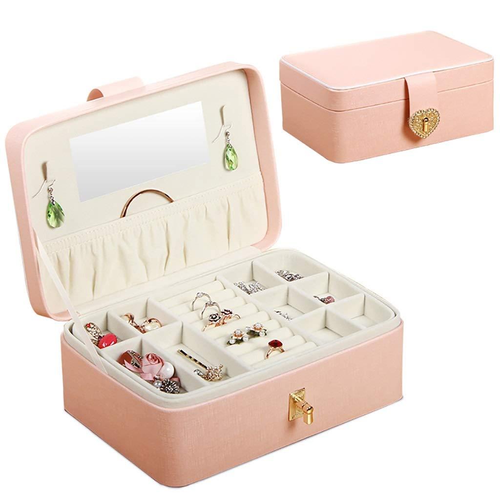 Organizadores y cajas para joyas Caso portable de la joyería del cuero de la PU, de