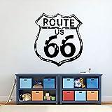 ASFGA Highway 66 Wandtattoo Vinyl Classic Route US 66