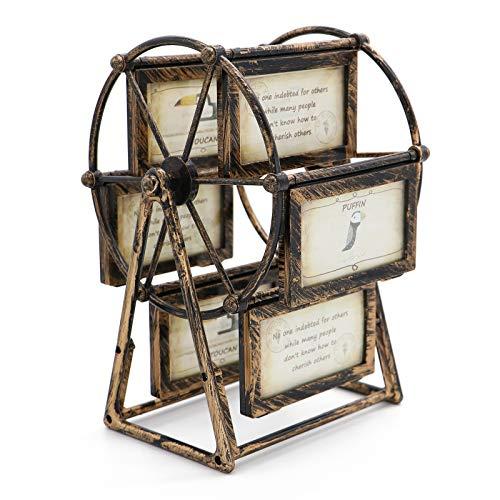 MLADEN Retro Vintage Familien-Bilderrahmen DIY Riesenrad Drehbare Windmühle Kunststoff Bilderrahmen Vintage Dekor Geschenk Nostalgischer Stil