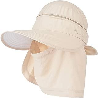 YEKEYI Women 3 in 1 Zip Off Wide Brim Folding Sun Hat UV Protection Neck Face Flap Cap Summer Outdoor Beach Visor Hats