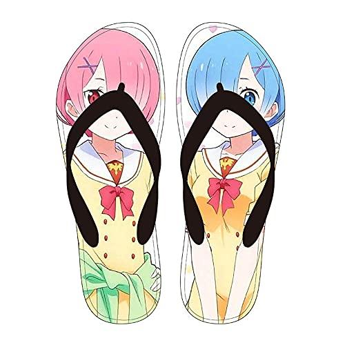 Zapatos de baño Profesora de manga erótica zapatillas hombre mujer verano manga japonesa chanclas profesora Eromanga sandalias casual Izumi Sagiri zapatos de playa zapatos de piso-1105_41-42 (270mm)