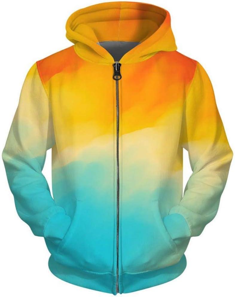 LUO Impression de couleurs Sweats à capuche pour femmes Hommes Sweats à capuche Sweatshirts 3D Hommes Hauts Streetwear,* L S