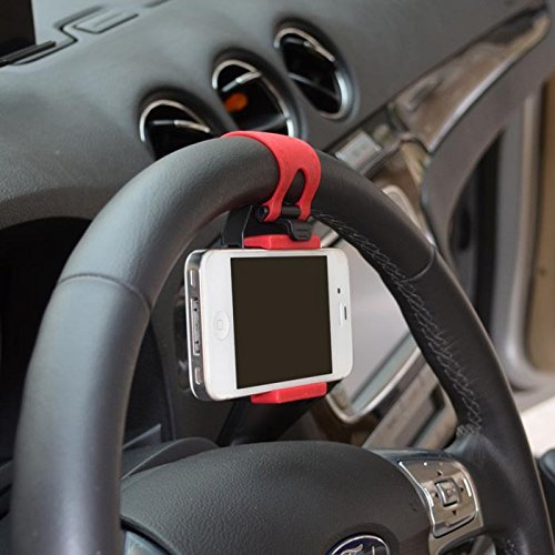 MAXWARE Supporto Universale Porta Cellulare da Volante Auto Sostegno