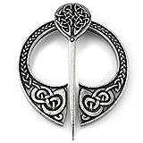 URBANTIMBER Wikinger Fibel Keltische Knoten in Silber