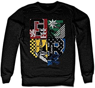 Officially Licensed Harry Potter Dorm Crest Sweatshirt (Black)