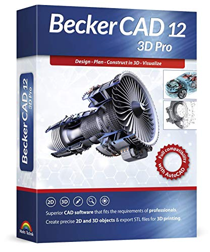 Becker CAD 12 3D PRO - sophisticated 2D and 3D CAD software for professionals - for 3 PCs - 100%...