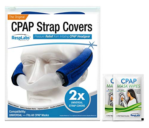 RespLabs CPAP Headgear Strap Covers — Universal Mask Pads | Extremely Comfortable Soft Fleece Cushion [2 Pack]