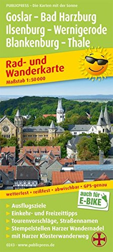 Goslar - Bad Harzburg - Ilsenburg - Wernigerode, Blankenburg - Thale: Rad- und Wanderkarte mit Harzer Klosterwanderweg, Ausflugszielen, Einkehr- & ... 1:50000 (Rad- und Wanderkarte / RuWK)