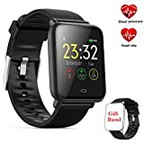 Fitness Tracker Watch,Activity Tracker with Heart Rate Monitor,Color Screen Smartwatch with Message Reminder