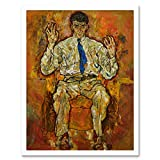 Egon Schiele Portrait of Paris Von Gutersloh Art Print