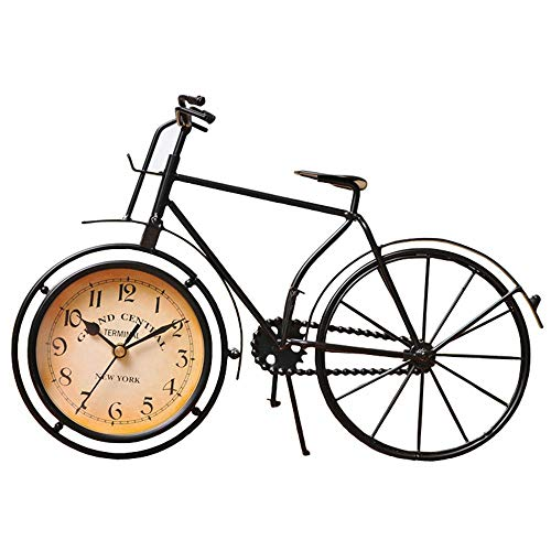 QMWY Table Clocks,Artesaníaantigua Retro Estilo Vintage Bicicleta Escritorio & Estante Reloj Moderno Oficina En Casa Decoración Mesa Pantalla Ornamento