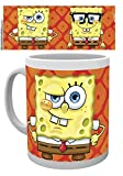 1art1 Spongebob, Faces Tazza da caffè Mug (9x8 cm) E 1 Sticker Sorpresa