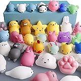 TAOJIN 10 Piezas Juguetes Mochi, niños Lindos Pascua Mini Mochi Oficina Mochi Juguetes Juguete para...