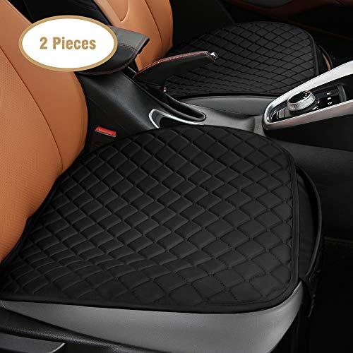 Tsumbay 2 Stück Autositzkissen, Sitzkissen Autositzbezug PU-Leder mit Aufbewahrungstasche, universeller rückenfreier Autositzbezug, Weich, Bequem und Atmungsaktiv