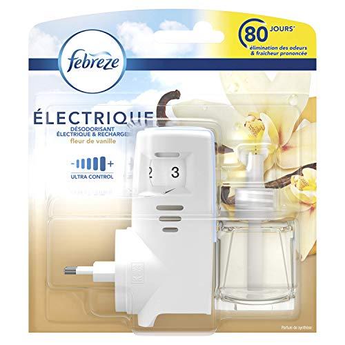 Febreze Diffuseur Électrique Kit Prise + 1 Recharge, Fleur de Vanille, 20 ml