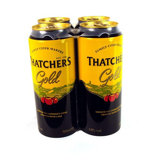 Thatchers Gold Medium Dry Somerset Cider 500ml