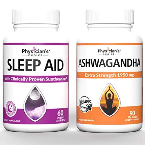 Ashwagandha 1950mg Organic Ashwagandha + Sleep Aid with Valerian Root