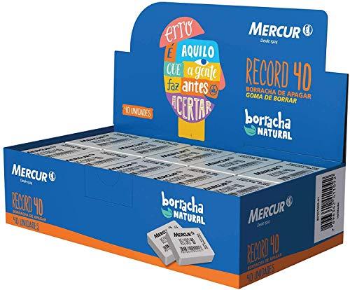 Borracha Branca, Mercur, Record 40, B0101005-01, Caixa com 40 Unidades