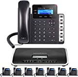 Business Phone System: Starter Pack with Voicemail, Auto Attendant, Cell & Remote Phone Extensions, Call Recording & Free TWAComm.com Phone Service for 1 Year (8 Phone Bundle)