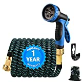 CHAIN PEAK 100FT Garden Hose Pipe, Expandable Water Hose with 10 Function Nozzle