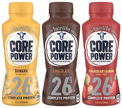 Core Power 26g High Protein Milk Shake - 12 - 11.5oz Bottles (3 Flavor...