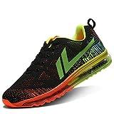 Zapatillas de Running Hombre Calzados para Correr en Asfalto Deporte Sport Casual Sneakers 2 Naranja 44 EU