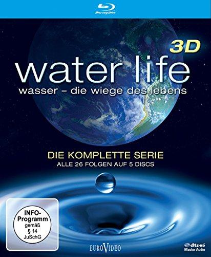 Water Life 3D: Wasser - Die Wiege des Lebens (Die komplette Serie, Alle 26 Folgen auf 4 Discs) [Blu-ray 3D]