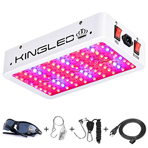 King Plus 1000w LED Grow Light Double Chips Full Spectrum with UV&IR for Greenhouse Indoor Plant Veg...