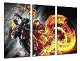 Cuadro Fotográfico Ghost Rider, El motorista Fantasma, Cine Tamaño total: 97 x 62 cm XXL