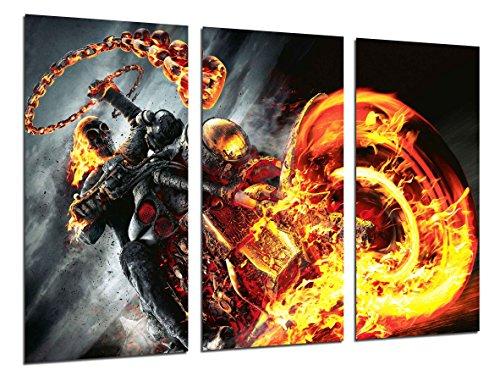 Cuardos Camara Poster Fotográfico Ghost Rider, El motorista Fantasma, Cine Tamaño total: 97 x 62 cm XXL, Multicolor