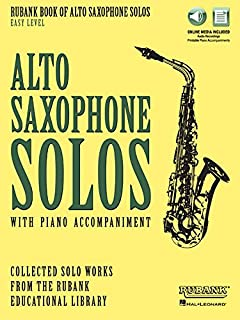 Rubank Book of Alto Saxophone Solos - Easy Level: Book with Online Audio (stream or download) (Rubank Book of Solos)