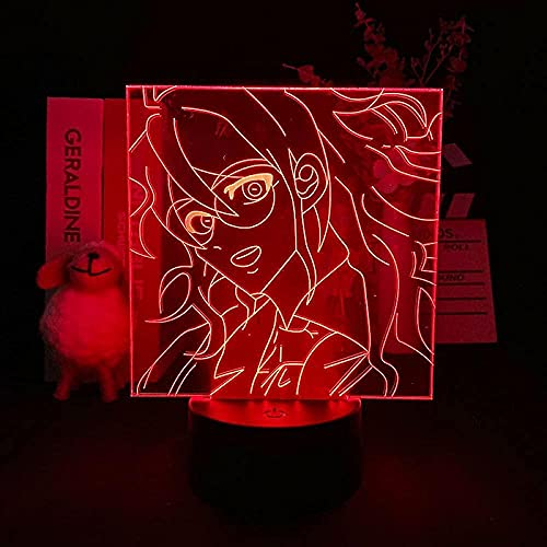 GMYXSW 3D ilusión LED lámpara noche luz anime Gonta gokuhara figura7 color iluminación lámpara de mesa regalo de cumpleaños para niños dormitorio noche Accesorios