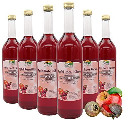 Bleichhof Apfelsaft mit Rote-Rüben Saft - 100% Direktsaft, naturrein und vegan, OHNE Zuckerzusatz, 6er Pack (6x 0,72L)