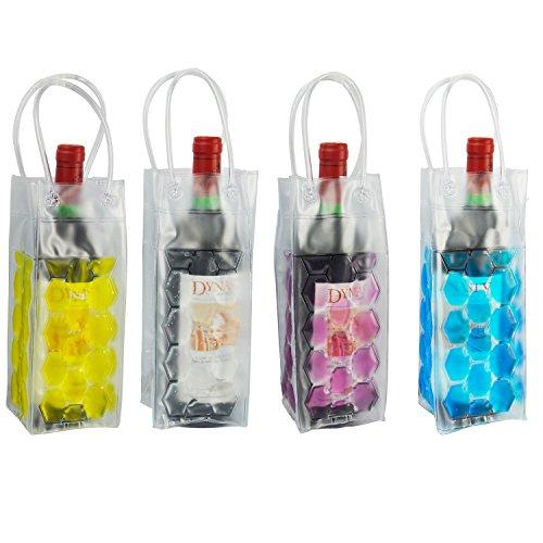 Vivo© - Borsa frigo per bottiglia di vino, con ghiaccio in gel, per festa, idea regalo, picnic, attività all'aperto Blue
