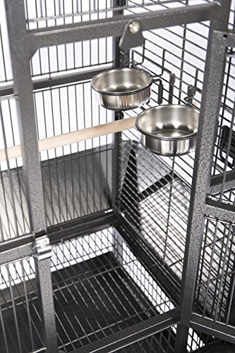 Prevue Pet Products Wrought Iron Select Bird Cage Black Hammertone 3151BLK