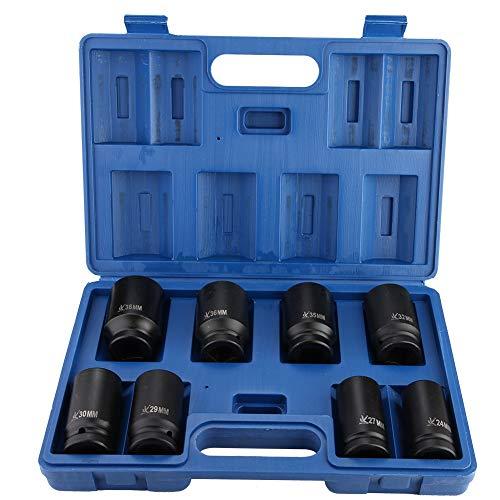 Juego de 8 llaves de vaso hexagonales 3/4' profesional, juego de llaves de impacto de 24 cm a 38 cm con maletín azul