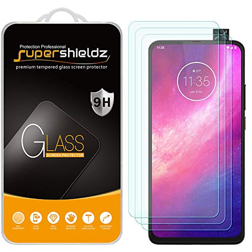 (3 Pack) Supershieldz for Motorola One Hyper Tempered Glass Screen Protector, Anti Scratch, Bubble Free