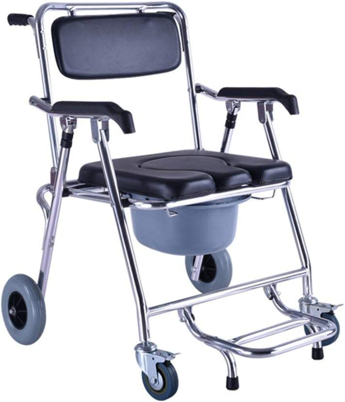 HONYGE LXGANG Chair famous Bath Stools Wheeled Ove Commode favorite Seat Folding