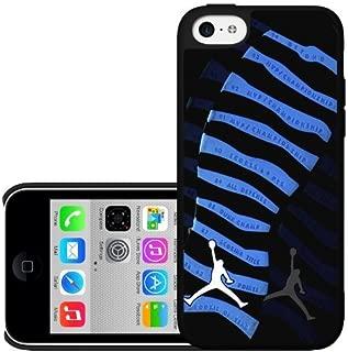 "Black and Blue Designer Shoe ""10's Retro Powder Blue"" Foot Print Hard Snap on Phone Case (iPhone 5c)"